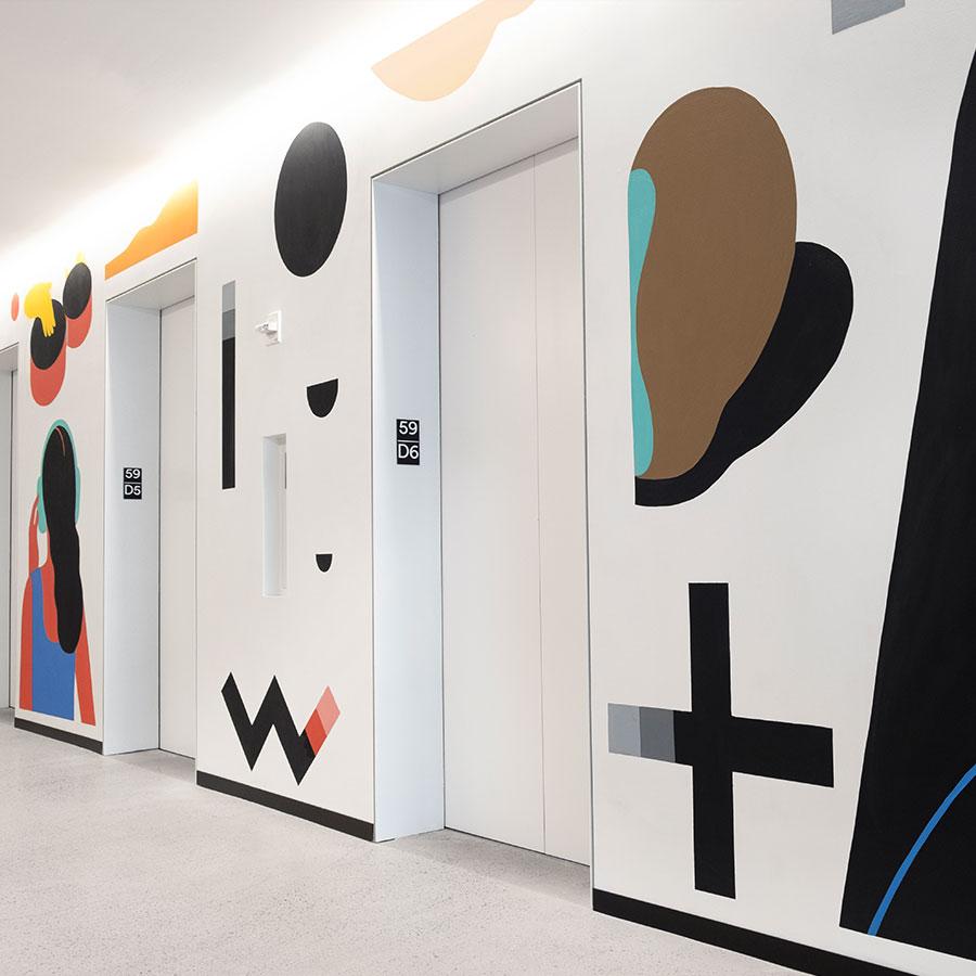 Spotify mural artist world trade center