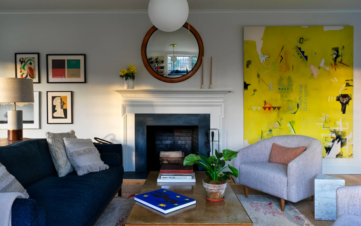 Ali Beletic Painting in Architectural Digest in the home of Eva Chen