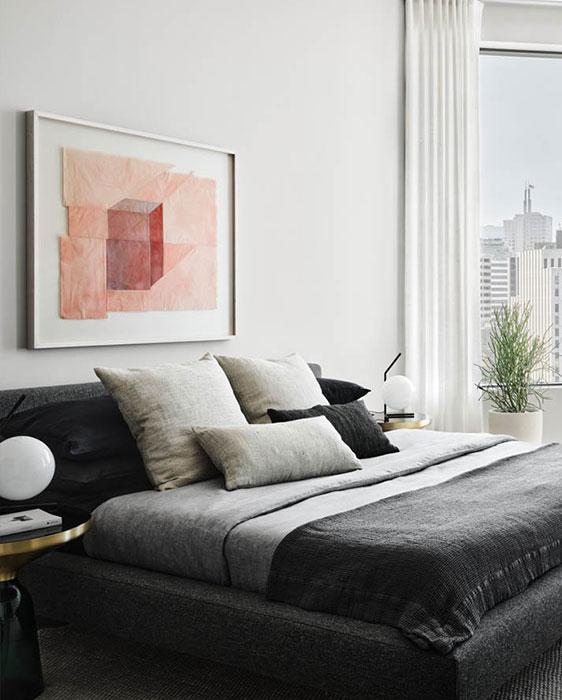 Gabrielle Teschner large pink artwork