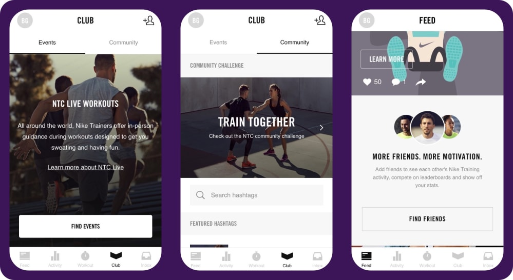 Nike Training Club app | tapptitude blog