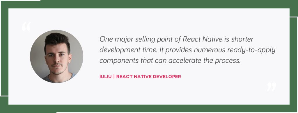 Iuliu quote, React Native Developer   native mobile development or react native   tapptitude blog
