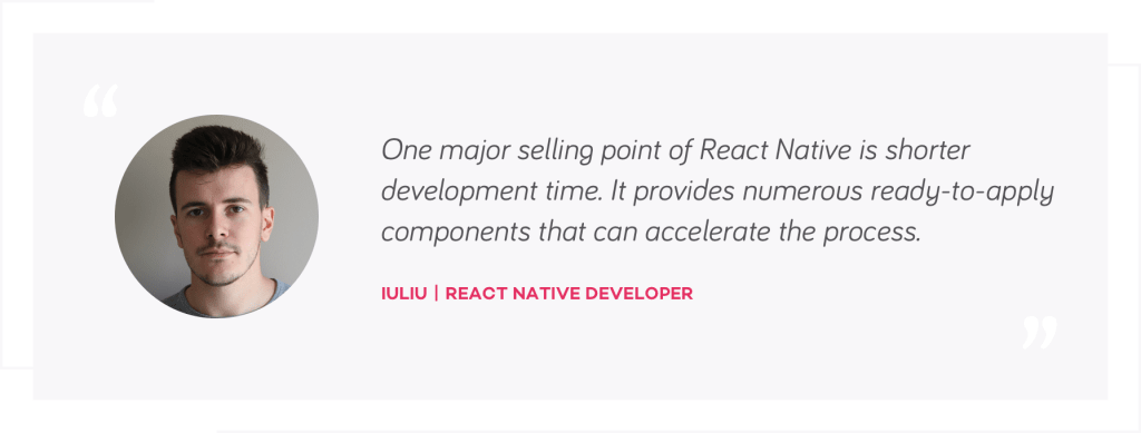 Iuliu quote, React Native Developer | native mobile development or react native | tapptitude blog