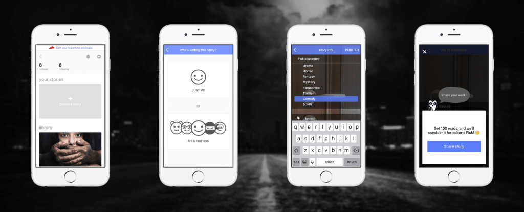tapptitude's app of the week hooked creepy chat stories app