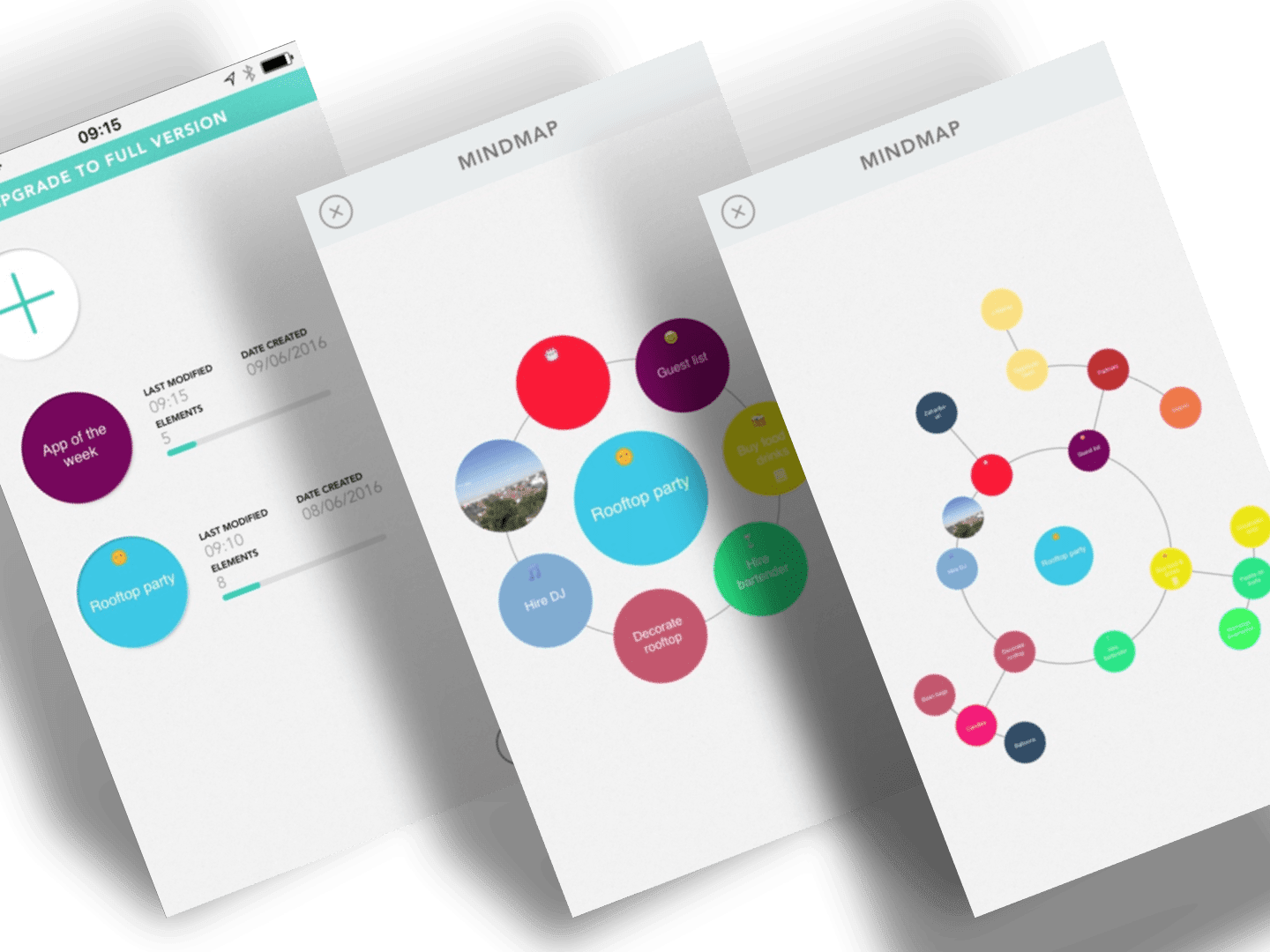 tapptitude App of the Week is Mindly - the mind mapping mobile iOS and Android app