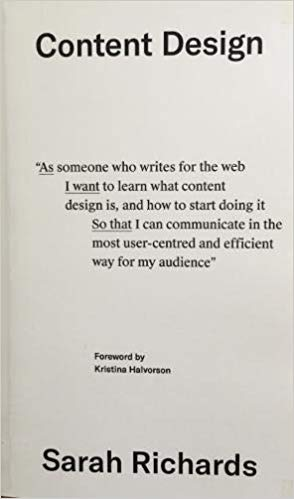 Cover of Content Design by Sarah Richards | 25 book recommendations to make you a better entrepreneur - Tapptitude
