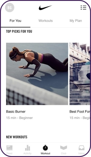 Nike Training Club app   tapptitude