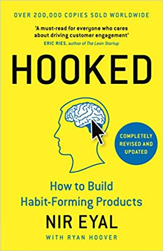 Cover of Hooked by Nir Eyal | 25 book recommendations to make you a better entrepreneur - Tapptitude