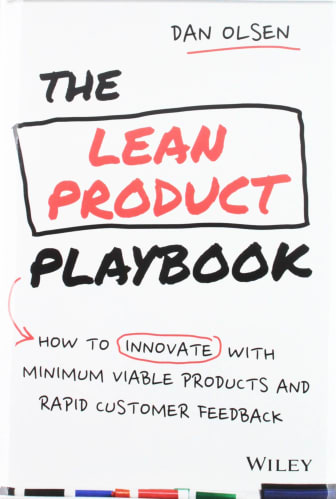 cover of The Lean Product Playbook, by Dan Olsen | 25 book recommendations to make you a better entrepreneur - Tapptitude
