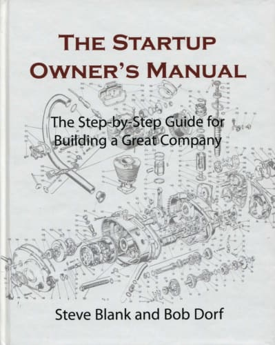 cover of The Startup Owner's Manual by Steve Blank and Bob Dorf | 25 book recommendations to make you a better entrepreneur - Tapptitude