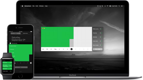 Momentum cross-device screenshots | Tapptitude