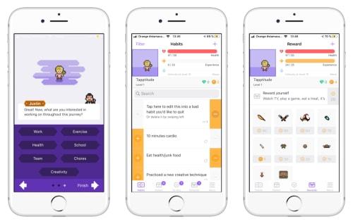 Habitica app screenshots | Tapptitude