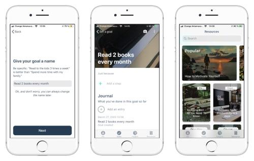 Remente app screenshots | Tapptitude