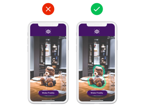 An example of problems caused not differentiating virtual objects from real ones when using augmented reality - What is augmented reality and how to apply it to mobile by tapptitude