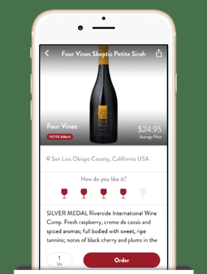 Wine description page