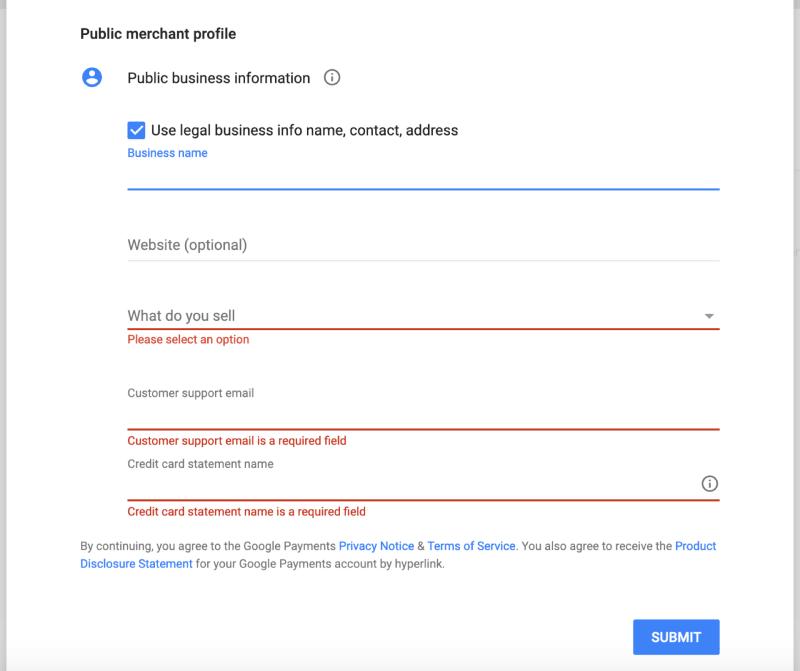 Setup merchant account on Google Play | tapptitude blog