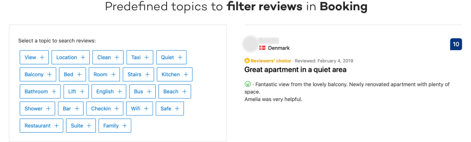 Booking's take on content filters