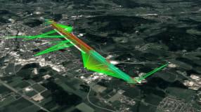 Drei Drohnenflug: Unbemannte Luftfahrt mit 5G