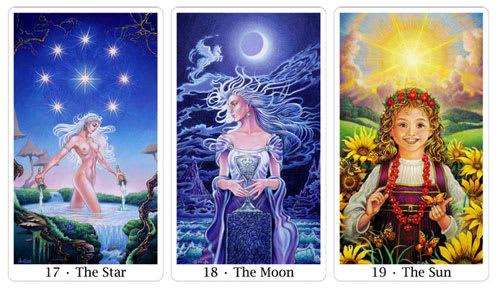 star moon and sun from sacred isle tarot