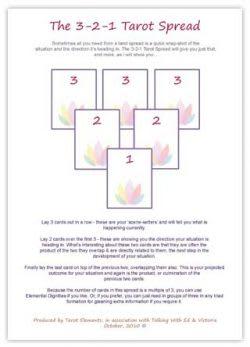 3-2-1 Tarot Spread using the Sun and Moon Tarot