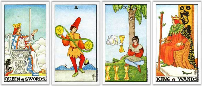 universal rider waite tarot card counting directional dignities