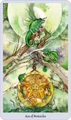 lo scarabeo tarot ace of pentacles representing the suit of pentacles