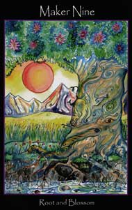 tarot of the sidhe 9 of pentacles