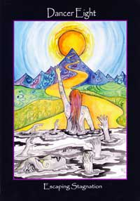 tarot of the sidhe 8 of cups dancer