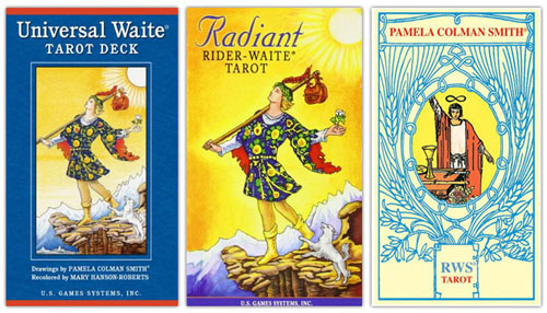 rider waite smith tarot recoloured