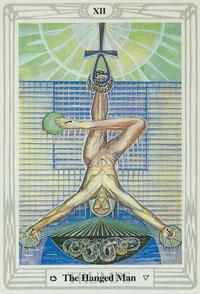 thoth tarot hanged mAN