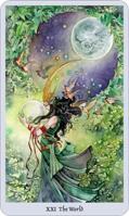 shadowscapes tarot world card