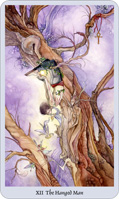 shadowscapes tarot hanged man card