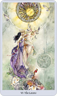 shadowscapes tarot lovers card
