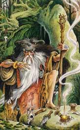The Shaman (Magician) from the Wildwood Tarot