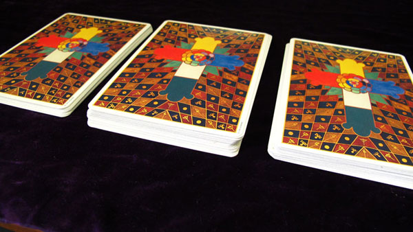 tarot card shuffle triple cut