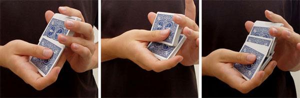 tarot card shuffle overhand