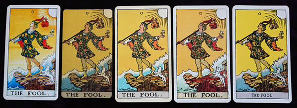rider waite smith tarot fool variations