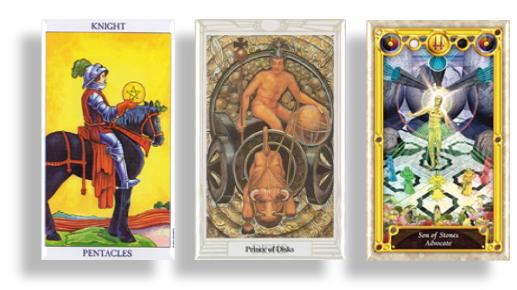 tarot court cards knights and prince of pentacles