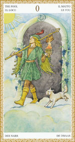 Lo Scarabeo Tarot Fool representing the Major Arcana
