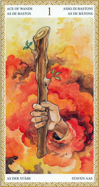 lo scarabeo tarot ace of wands