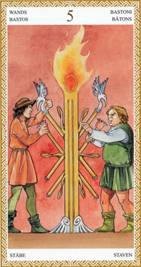 lo scarabeo tarot five of wands