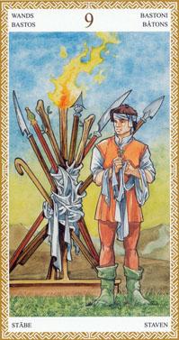 lo scarabeo tarot nine of wands