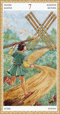 lo scarabeo tarot seven of wands
