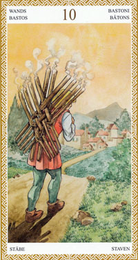 lo scarabeo 10 of wands