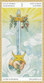 lo scarabeo tarot ace of swords representing the suit of swords