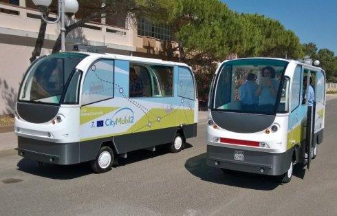 şoförsüz minibüs elektrik ile çalışıyor