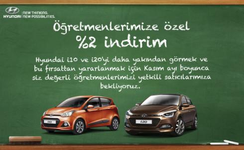 Hyundai Öğretmenler Günü İndirimi