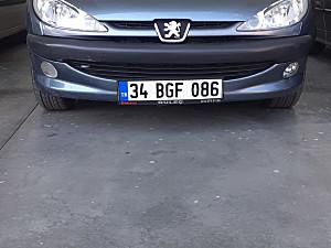 PEUGEOT 206 1.4 HD MOTORU KAPORTASI SORUNSUZ