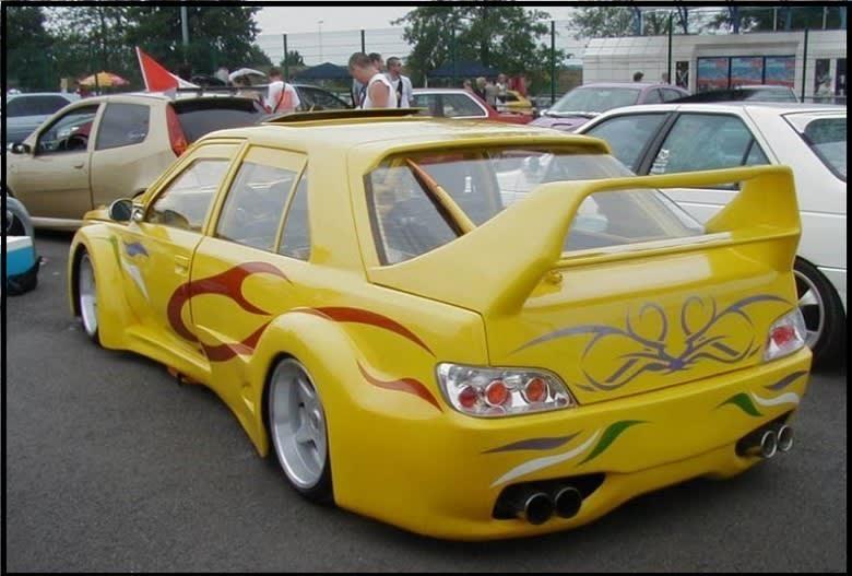 sarı şahin modifiye araç