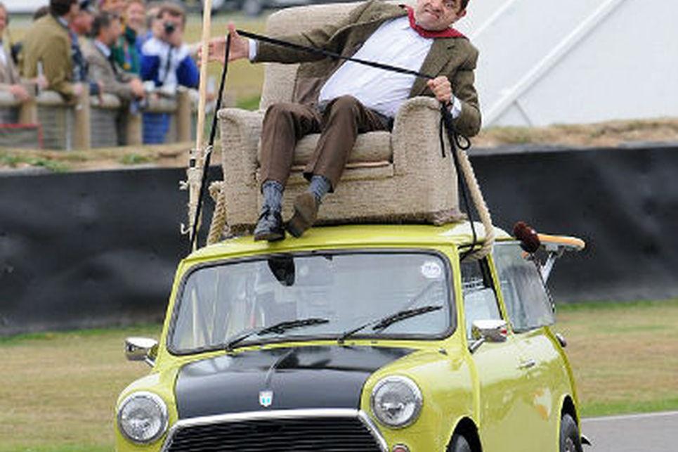Mr.Bean ve sarı Mini Cooper