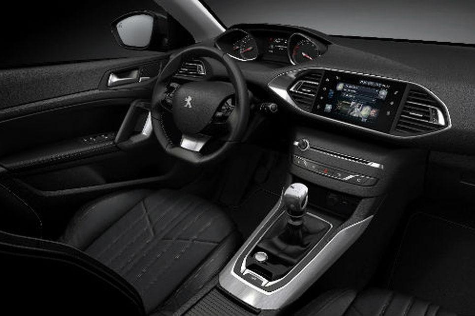 Peugeot 308 ön konsol, direksiyon, iç alan, sürücü koltuğu,